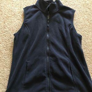 Jackets & Blazers - navy fleece vest